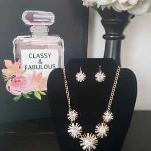 Starlight Statement Necklace & Earrings